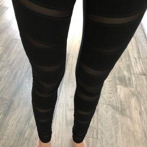 Express black mesh cutout high waist legging XS